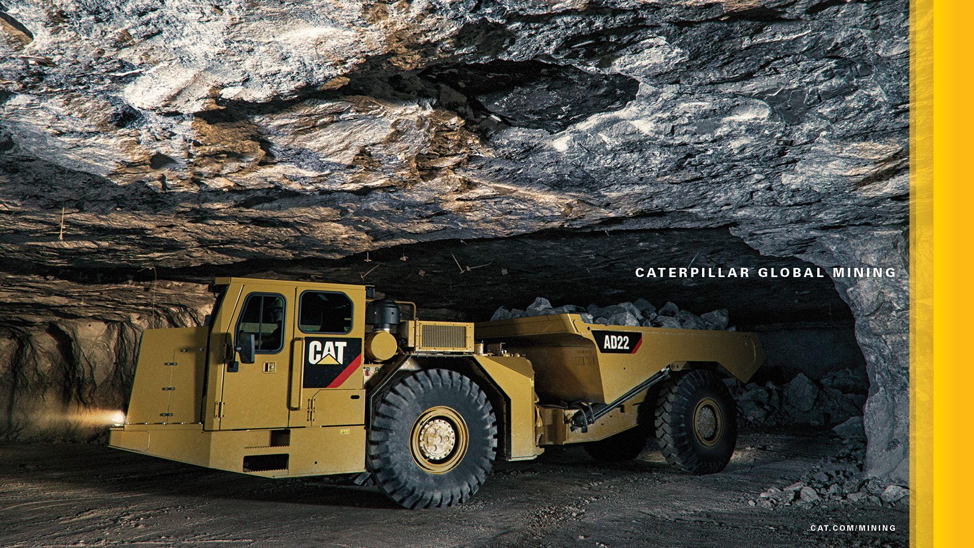 Cat AD22 Underground Mining Desktop Wallpaper