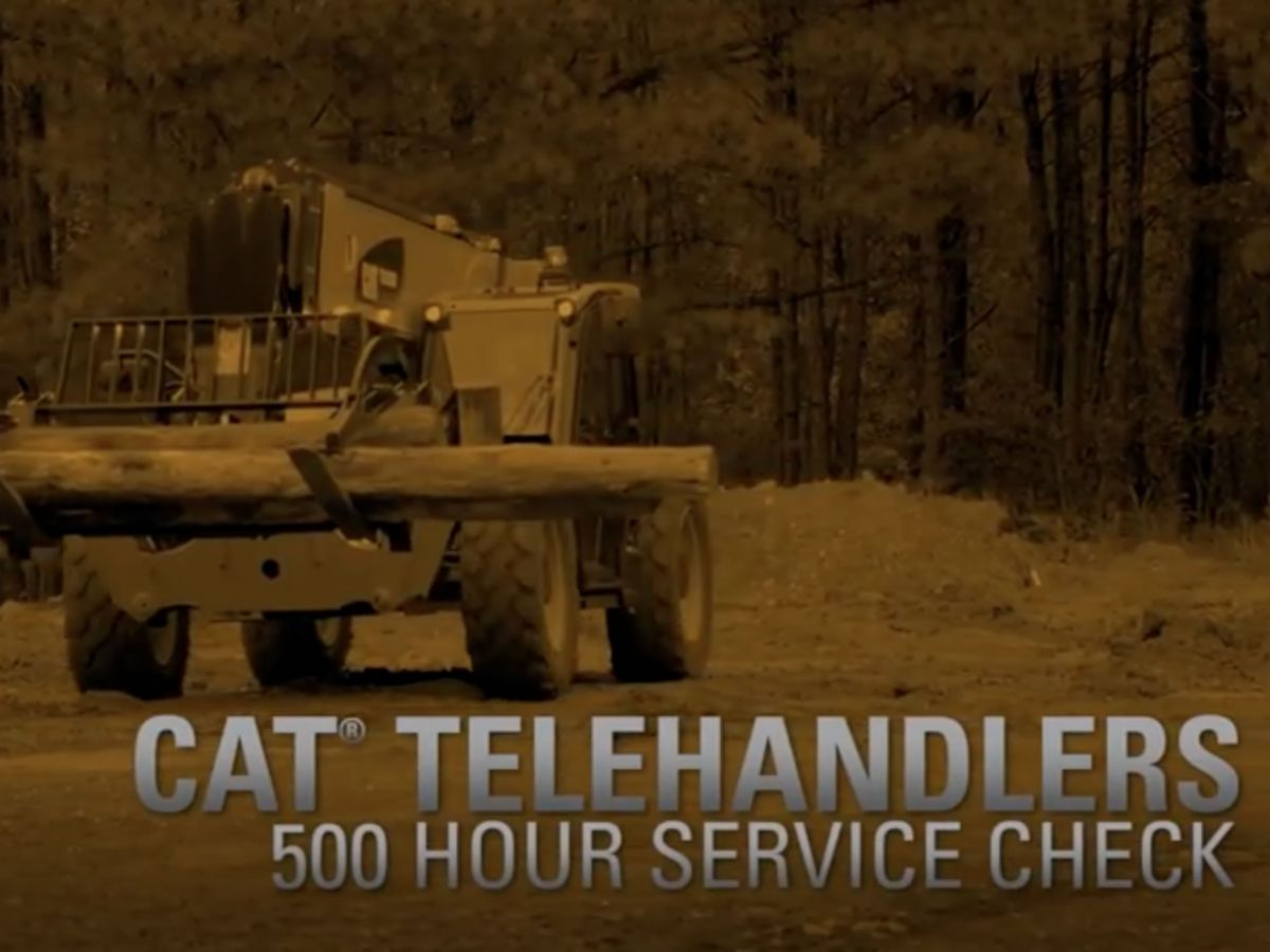 Cat® Telehandler 500 Hour Service Check
