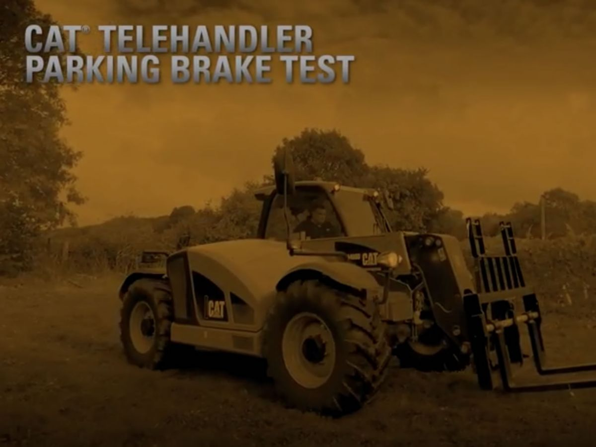 Cat® Telehandler Parking Brake Test