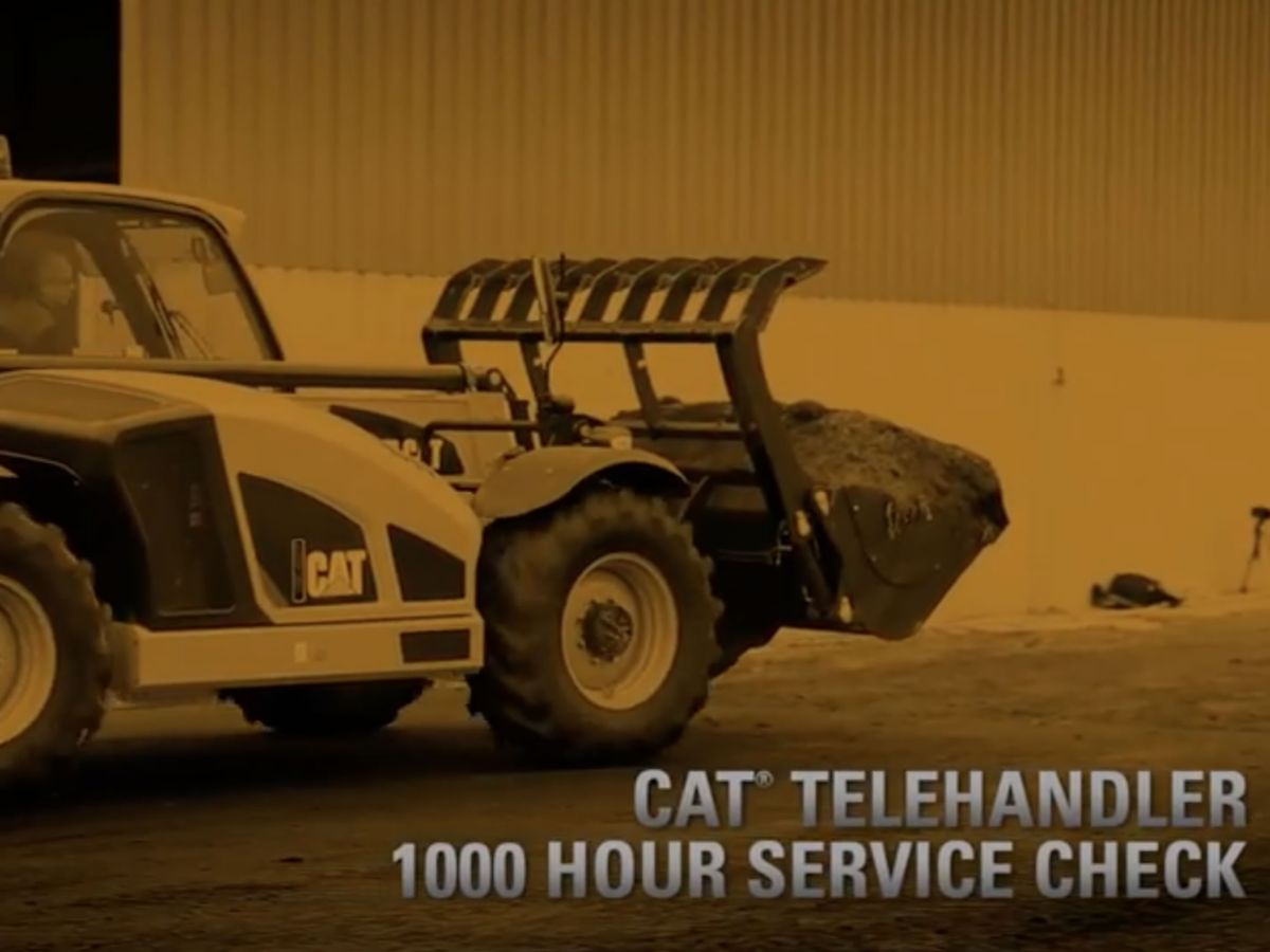 Cat® Telehandler 1000 Hour Service Check