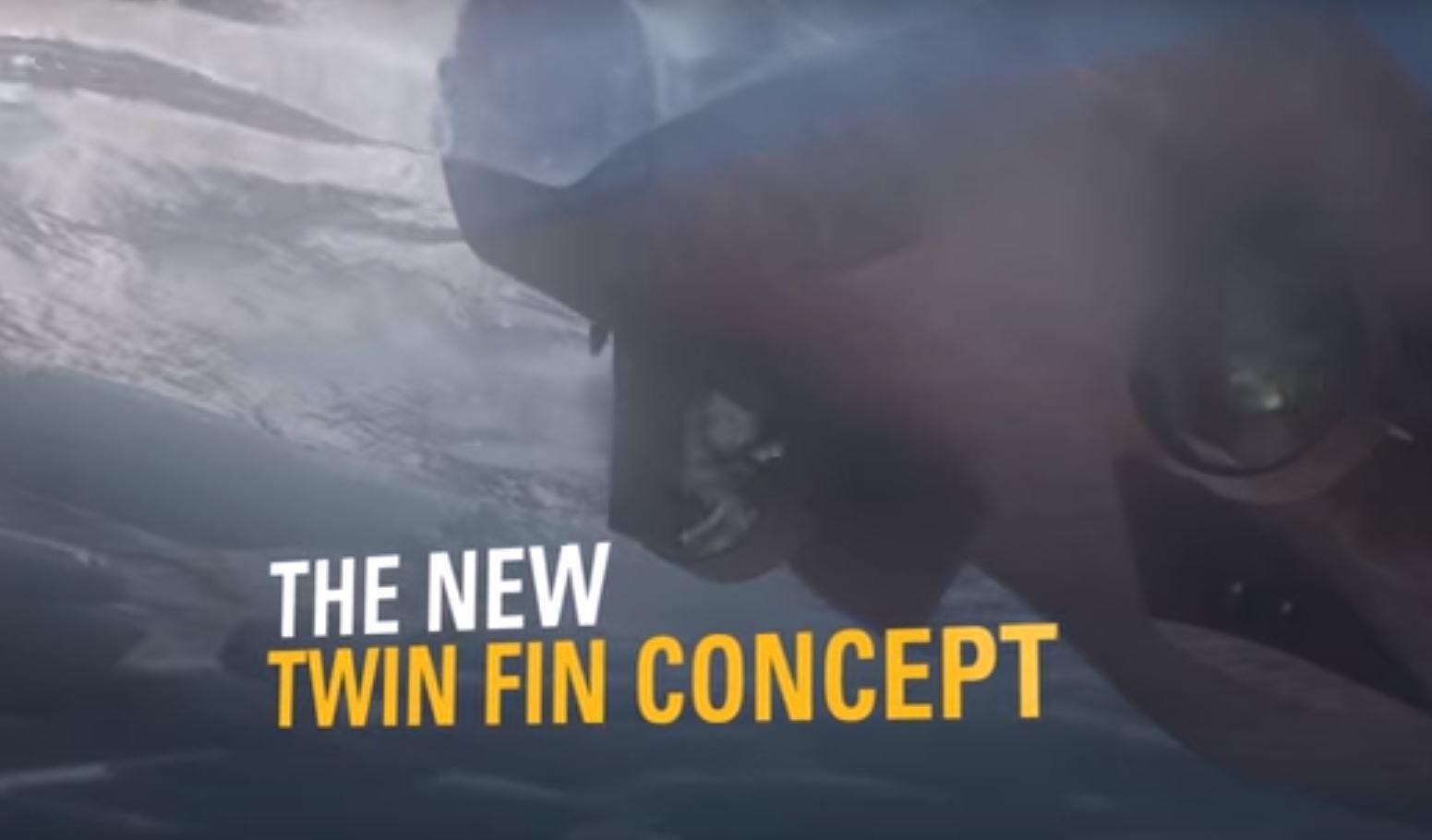 Twin Fin - Caterpillar Propulsion System - Retrofit