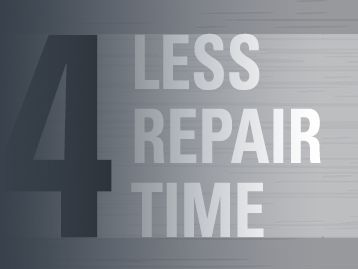 less repair time mining reman