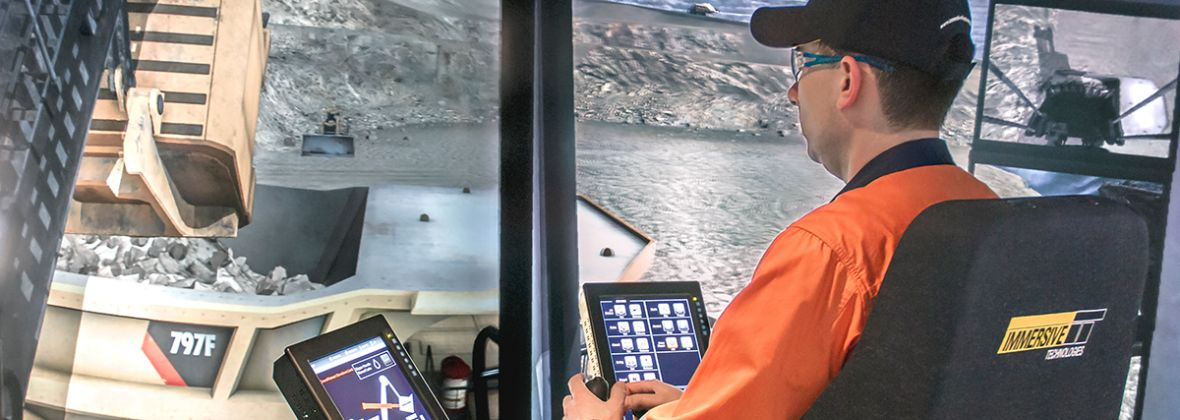 simulator training for mining operators