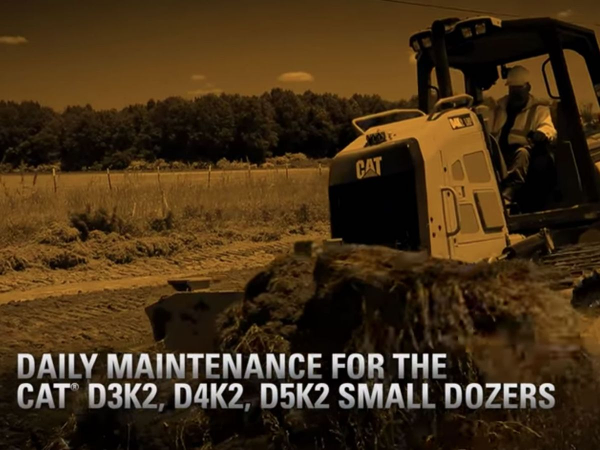 Maintenance and Serviceability | Cat D3K2, D4K2, D5K2 Small Dozers