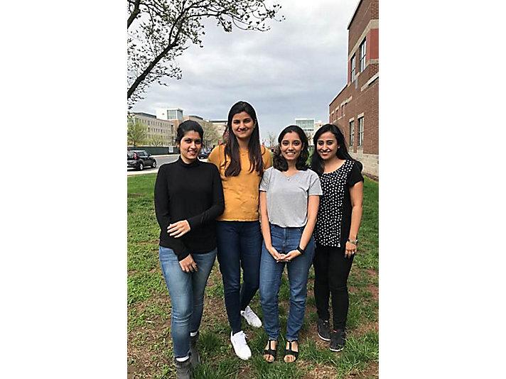 1st place - Rutgers University - Urmi Chaudhuri, Sreenidhi Yanmandra, Gita Jagdish Kumar, and Anjana George
