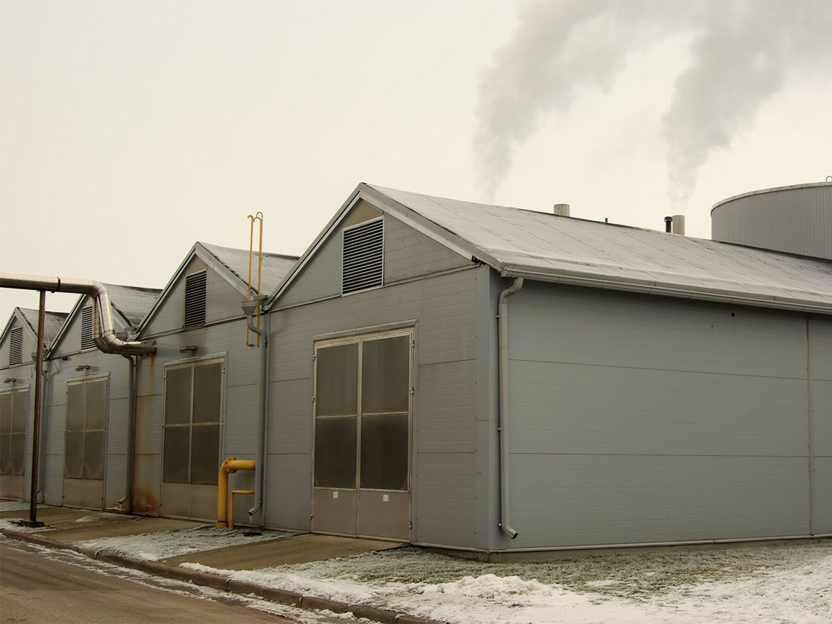 In the winter, the Cat G3516A generator sets and peak load boiler cover heat consumption.