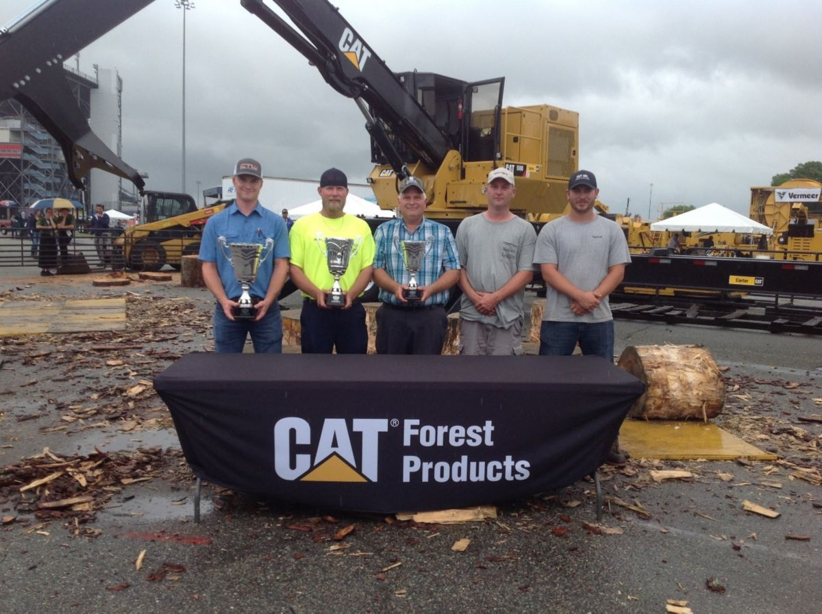 North Carolina Logger Wins Loader Championship Sponsored  By Caterpillar Forest Products At Richmond Expo