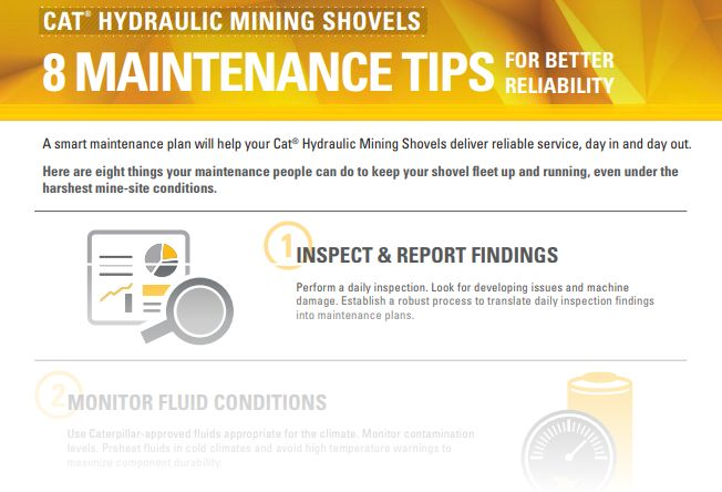 Infographic: Eight Maintenance Tips for Better Hydraulic Mining Shovel Reliability