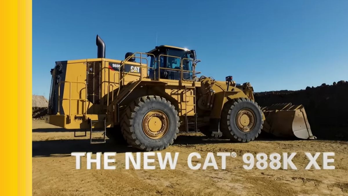 Cat® 988K XE Electric Drive Wheel Loader (Video)
