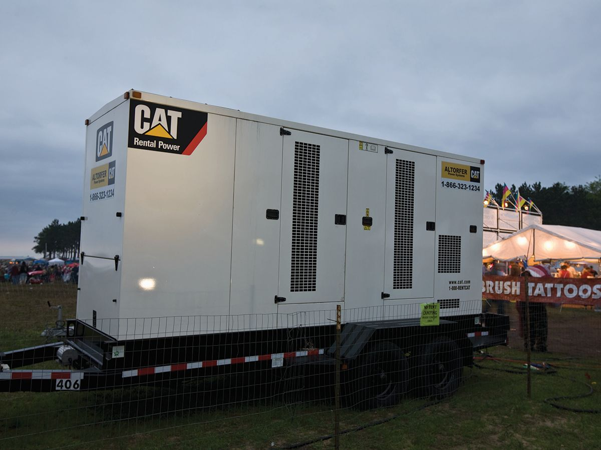 A network of 19 Cat® diesel generator sets provided secure and safe power for every aspect of the festival venue.