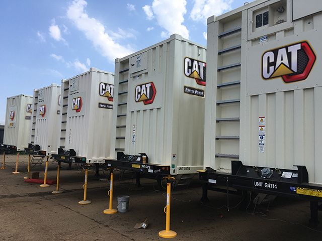 Rental generators providing temporary power