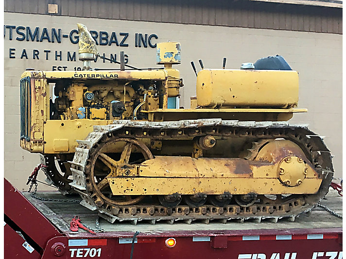 After a global search, Shay Stutsman finally found an antique Cat machine he could restore – a 1949 Cat D4.