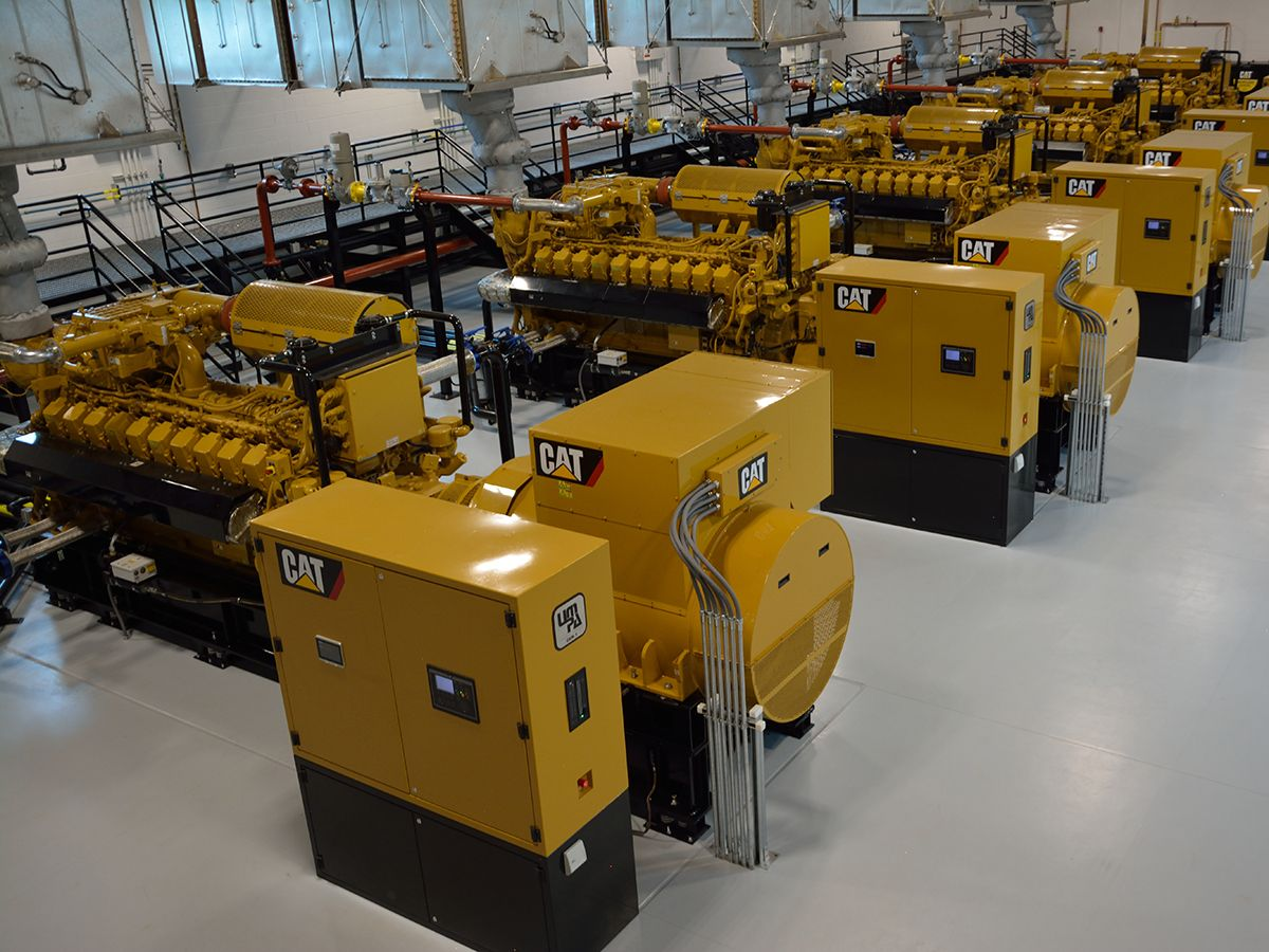Five Cat G3520H generator sets power state-of-the-art plant