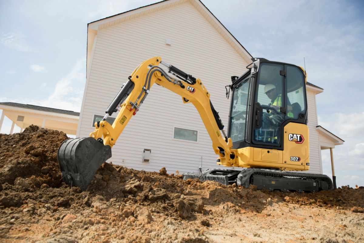 Cat 302 CR Next Gen Mini Excavator