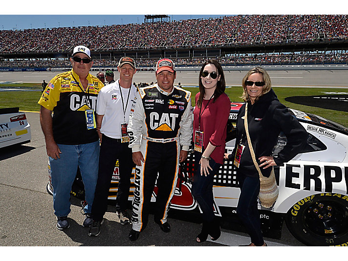 Recently Kory, his mom, stepfather and girlfriend attending the Talladega race – the same location as his very first race at age 11.