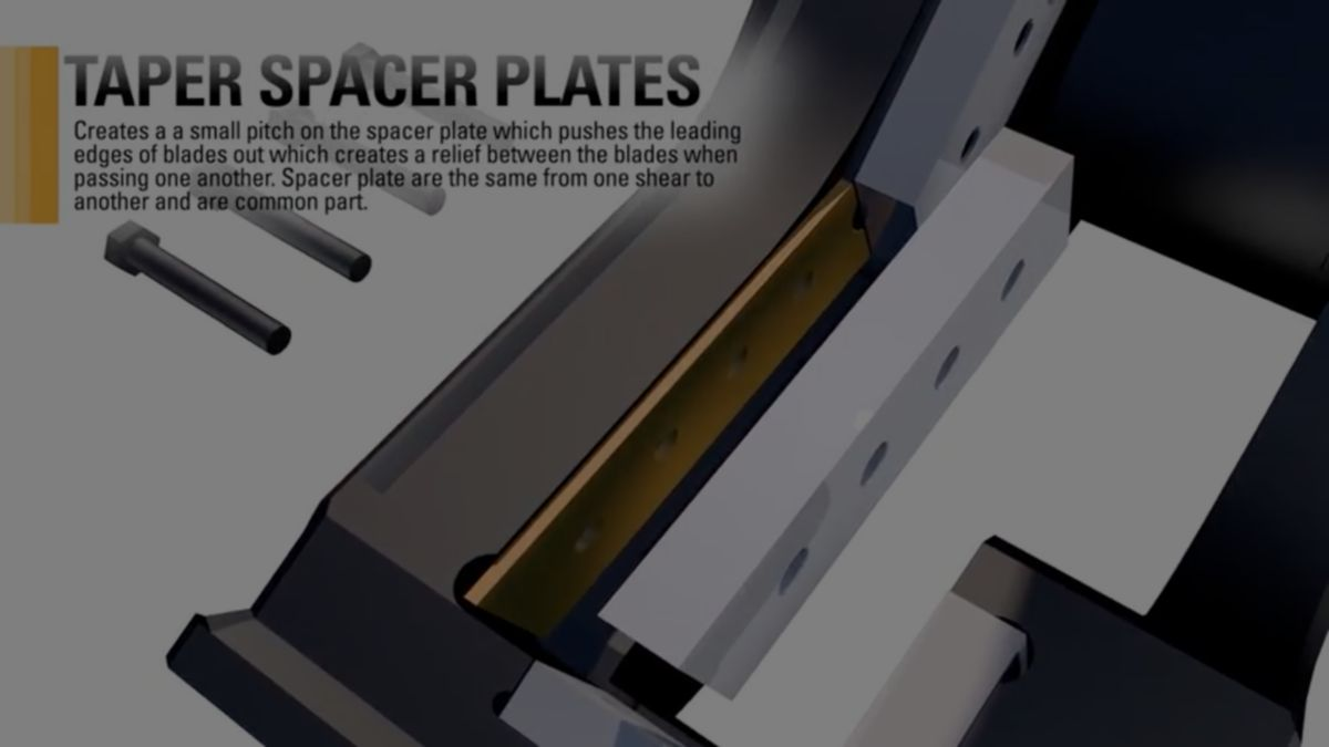 Shears Productivity - Tapered Spacer Plates