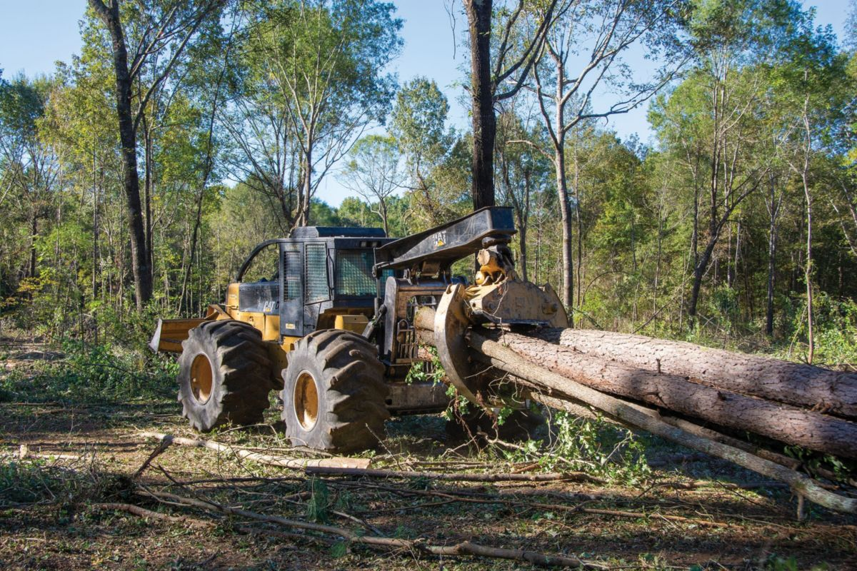 The crew uses the 545C Skidder on a daily basis, and the 545 when a second machine is needed.