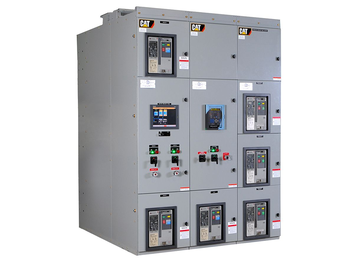 Figure 2 Cat paralleling switchgear with integrated controls and switchgear featuring color touchscreen operator interface.