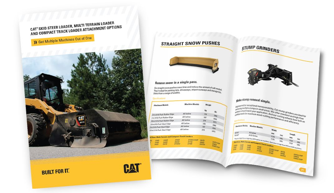 Cat Skid Steer Loader, Multi Terrain Loader and Compact Track Loader Attachment Options
