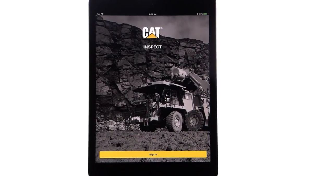 Cat® Inspect App – Launching Cat Inspect