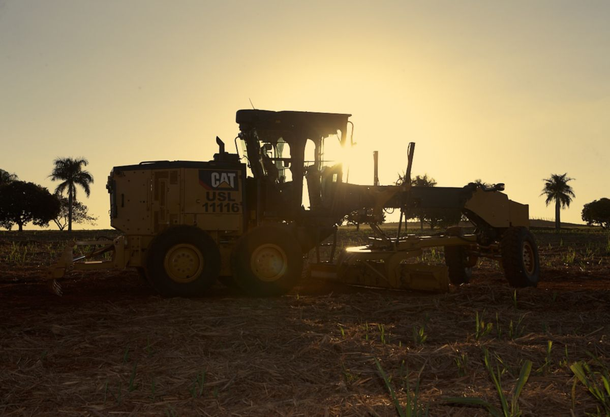 The new Cat 120  motor grader