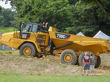 Cat Machines (and Crew) Save the Day at Motorcycle Racing Event