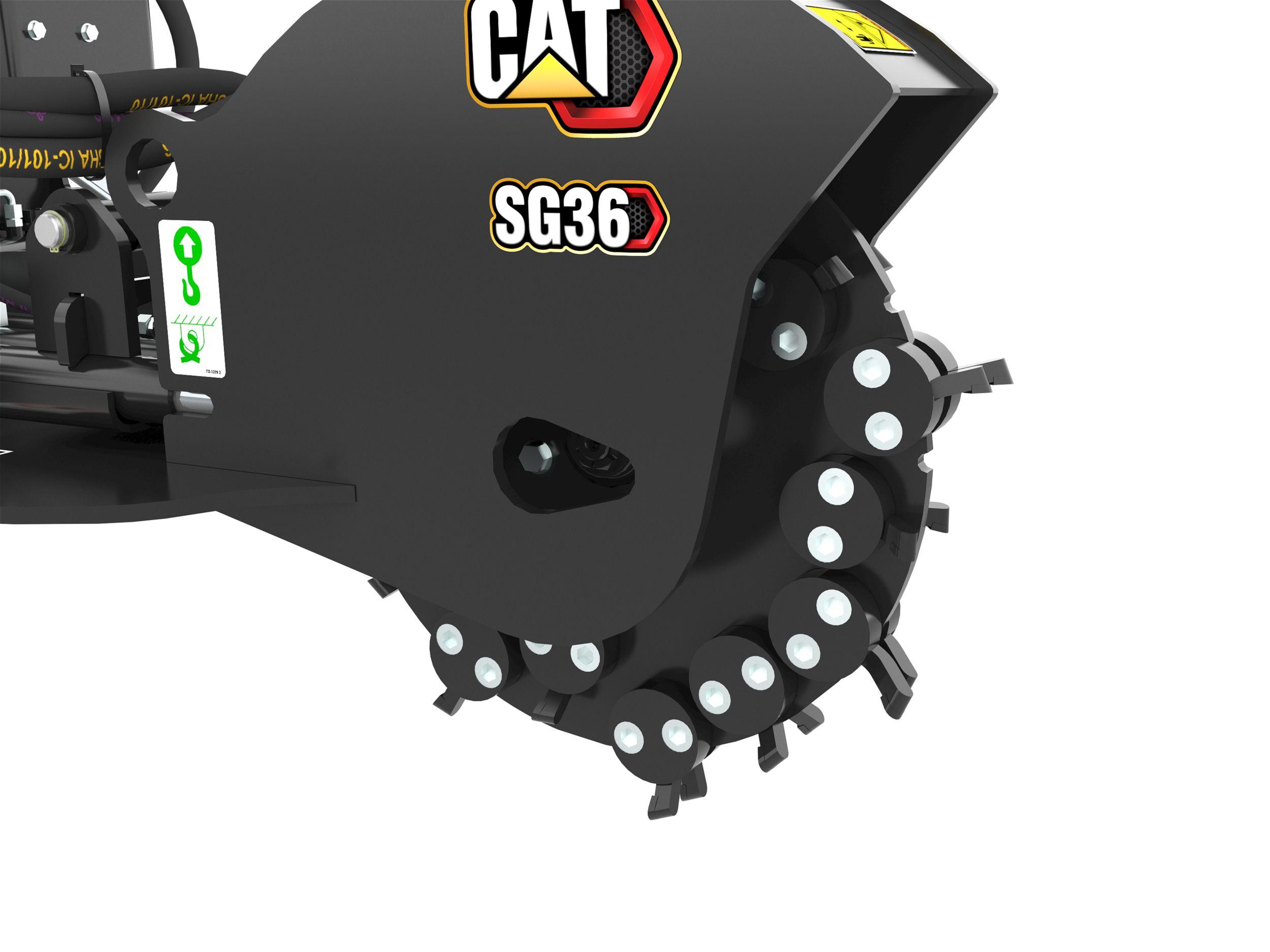 Cat Sg18b Stump Grinder Caterpillar 236 Engine Diagram Heavy Duty Cutting Wheel