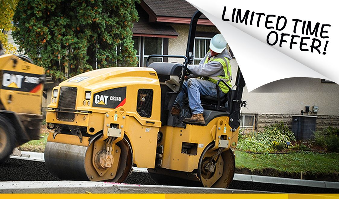 Cat  utility roller 1.9% financing for 36 months