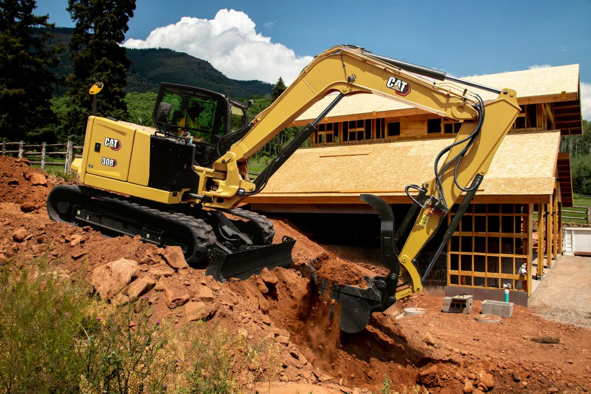 Cat 308 CR Next Gen Mini Excavator