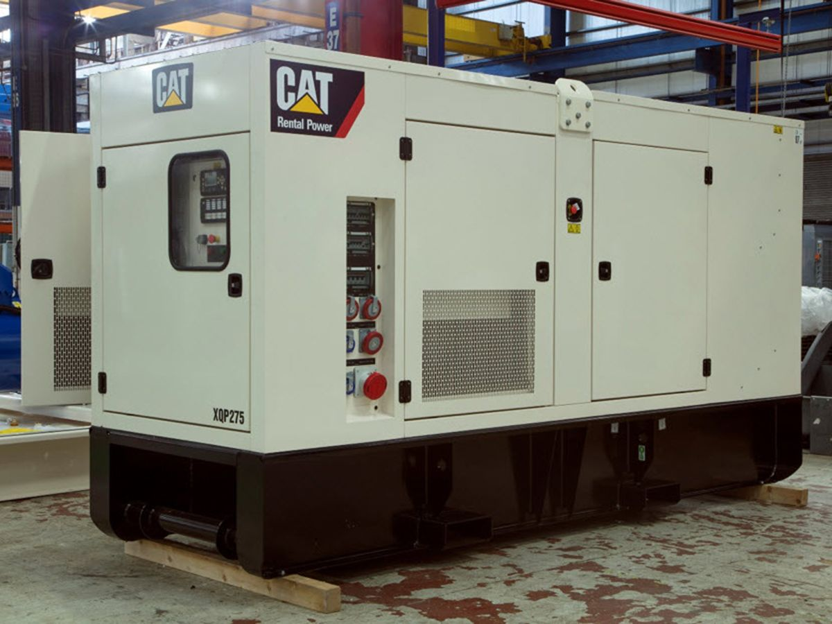 Shown here during assembly, the Cat® XQP275 mobile generator set is EU Stage IIIA compliant. It is part of Caterpillar's transition strategy to help customers manage the cost and complexities associated with the transition to EU Stage V emission standards.