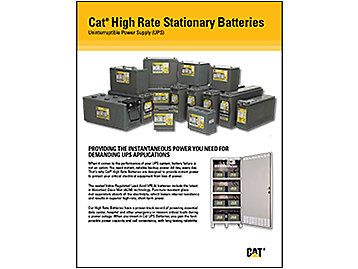 Cat® High Rate Stationary Batteries