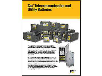 Cat® Telecommunication and Utility Batteries