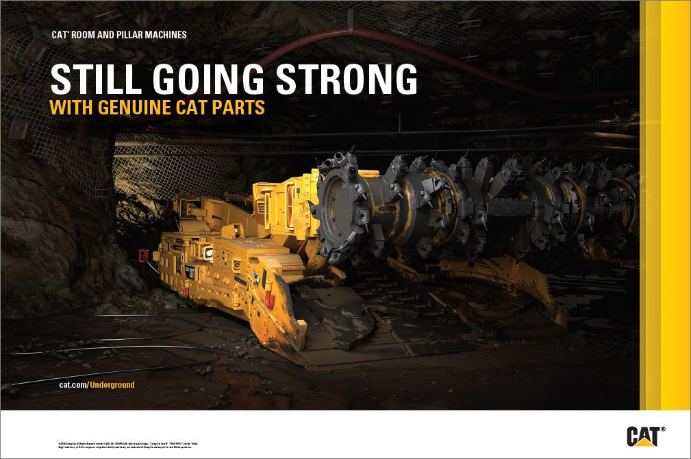 Cat® Room & Pillar Mining Poster - Genuine Cat Parts