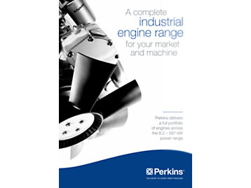 Industrial engine range leaflet