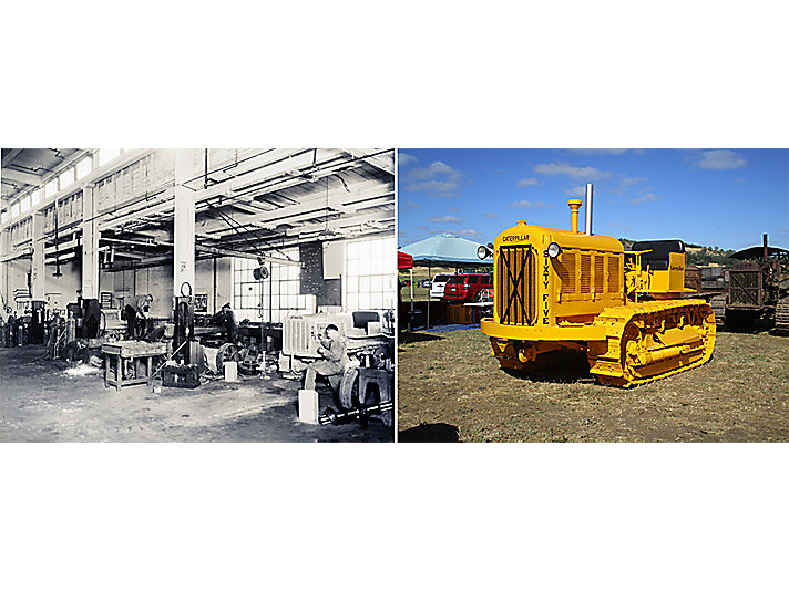 1931 – Caterpillar changed the paint color of its machines from gray to Hi-Way Yellow.