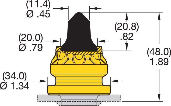 RK5-04P Road Milling Teeth