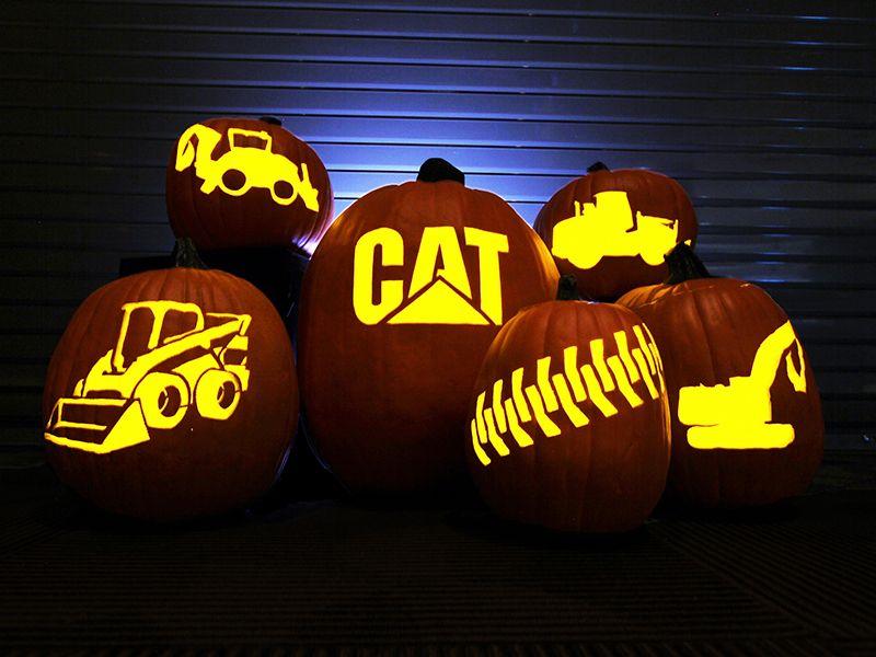 Cat® Pumpkin Carving Templates