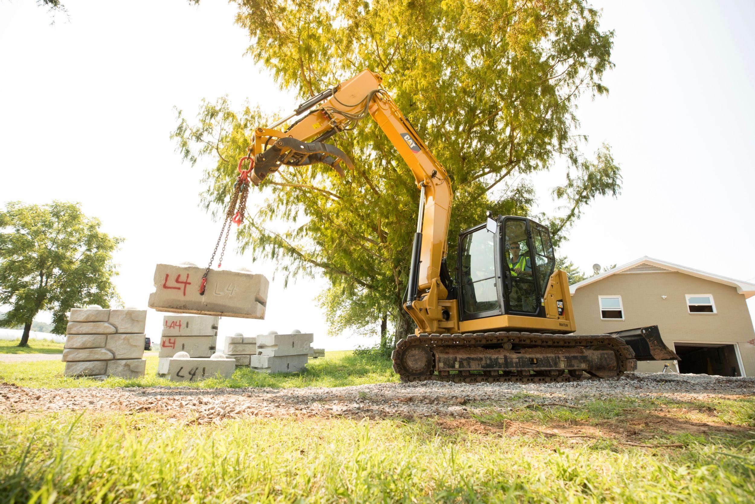 The Cat Next Generation 309 CR mini excavator