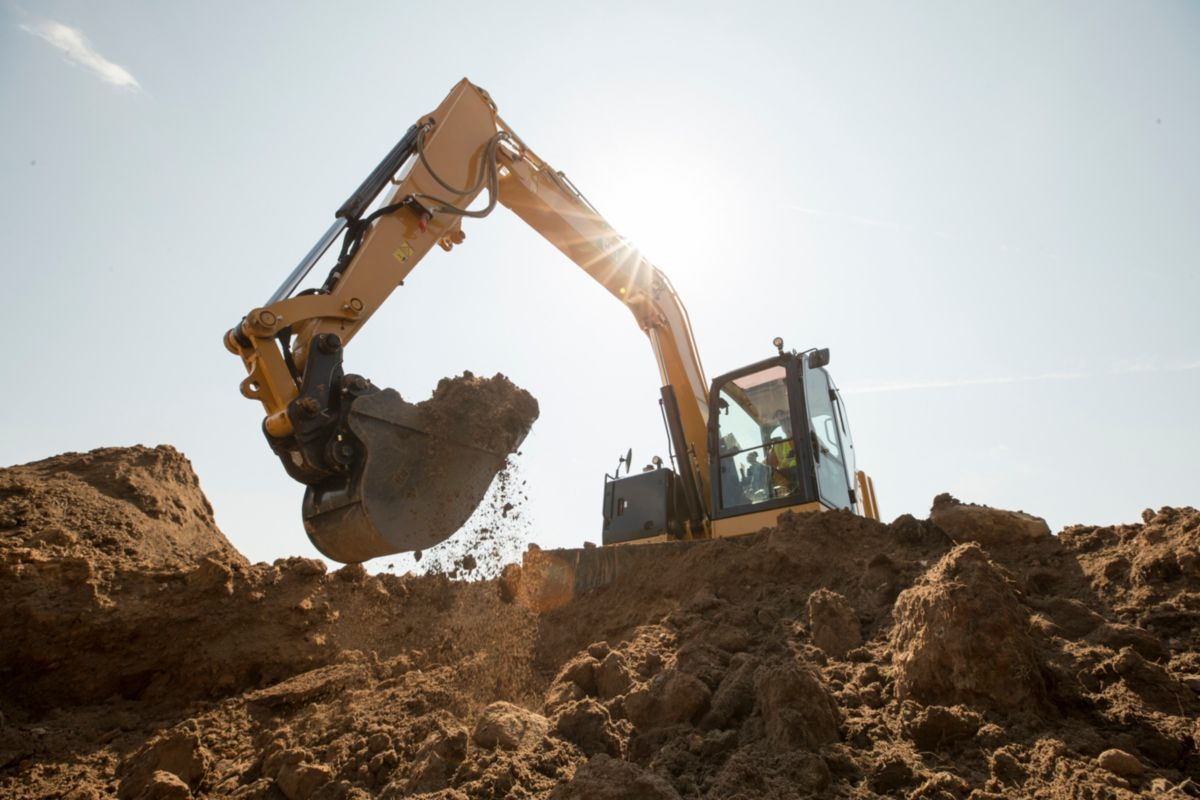 The new Cat 307.5 Next Generation mini excavator
