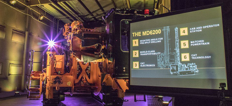 Cat MD6200 Rotary Blasthole Drill Rig Unveiled at Factory Program