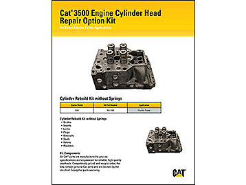 Cat 3500 Engine Cylinder Head Repair Option Kit