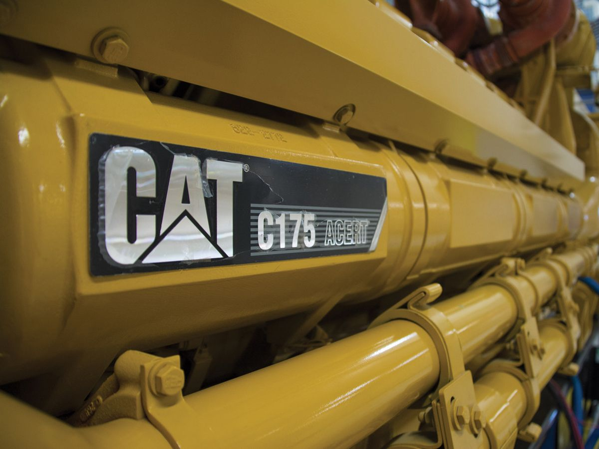 The Cat® C175-20 diesel generator set is often used for large, mission-critical installations.