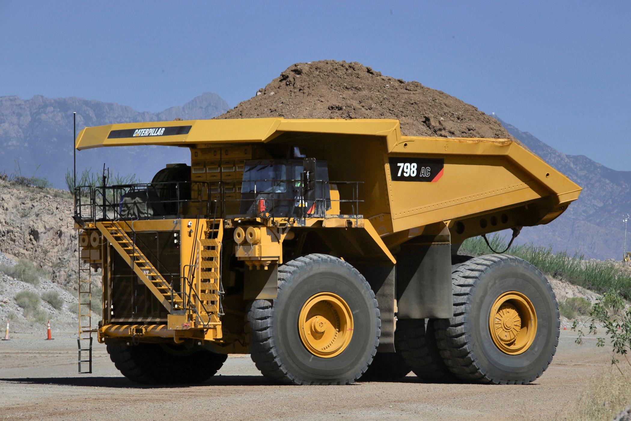 Cat 798 AC mining truck.