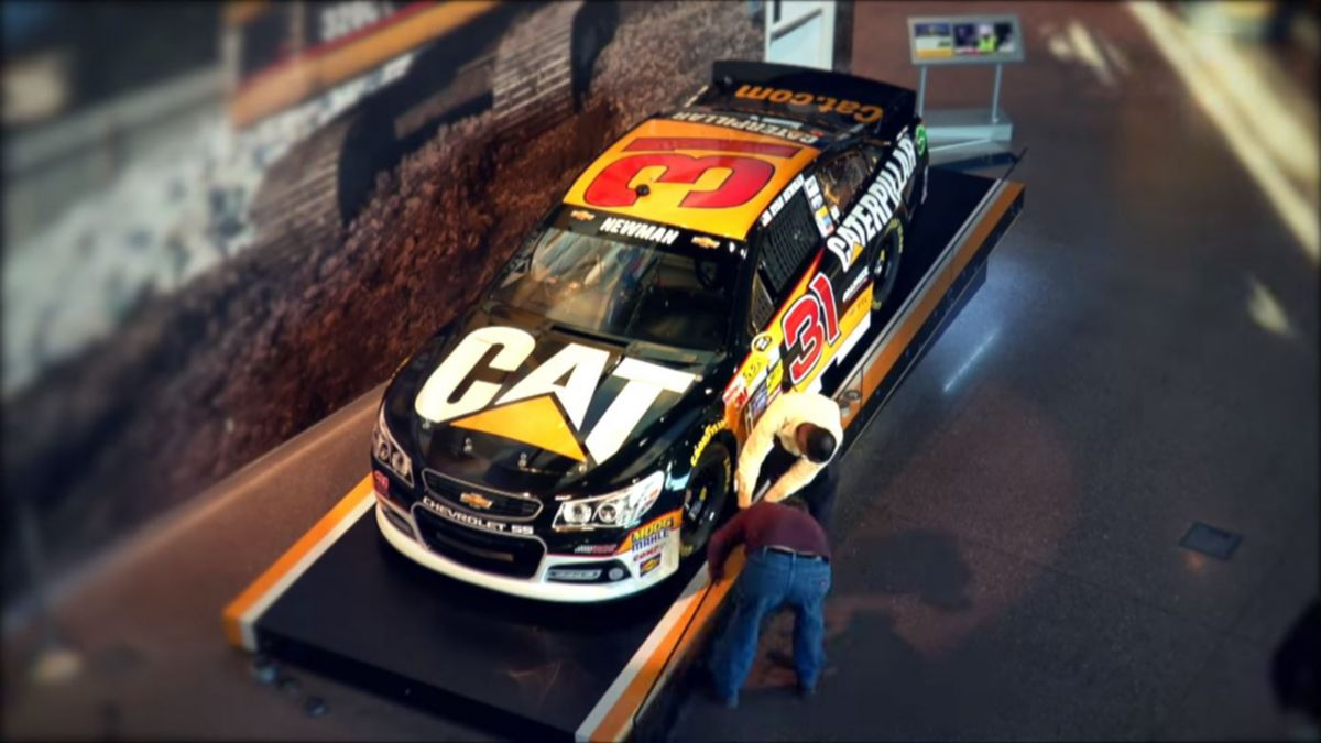 NASCAR No. 31 Caterpillar Chevrolet New Paint Scheme Time-lapse