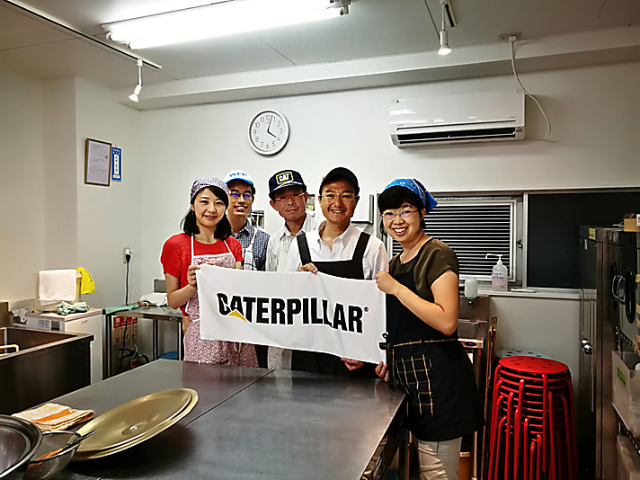 Caterpillar Japan employees volunteer at Second Harvest Japan.