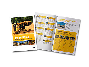 Cat Solutions for General Construction Contractors brochure