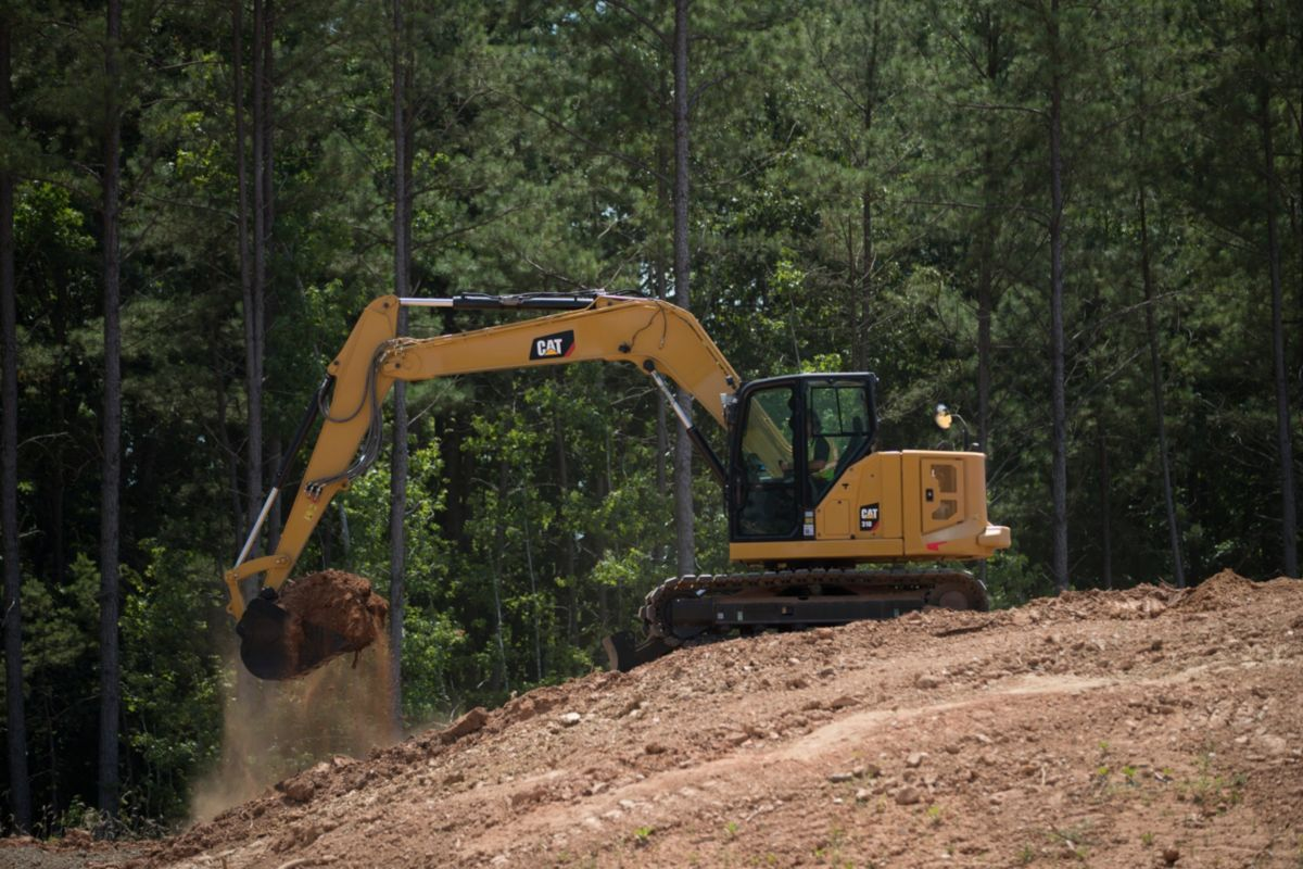 The new Cat 310 Next Generation mini excavator