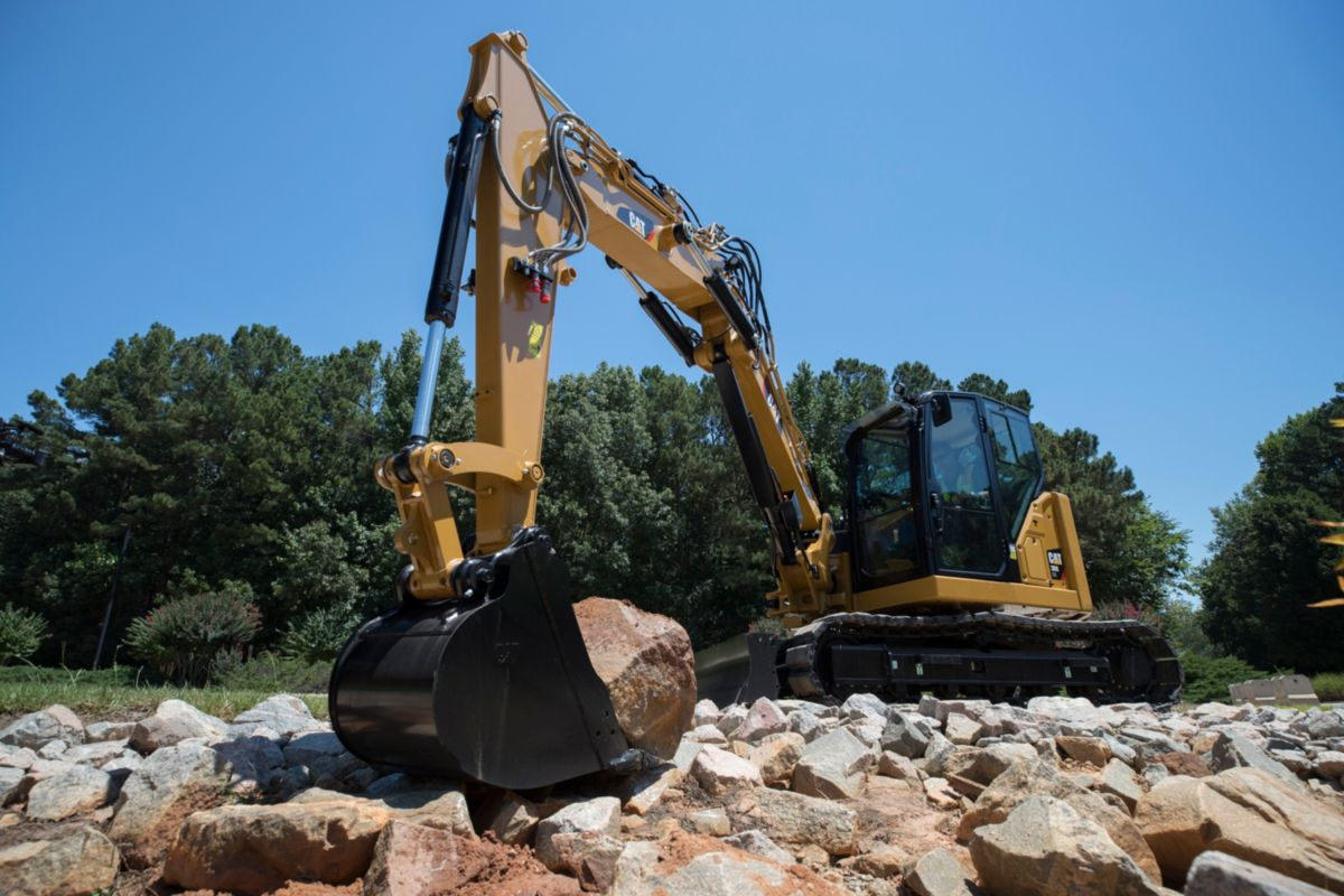 The Cat Next Generation 308 CR VAB mini excavator