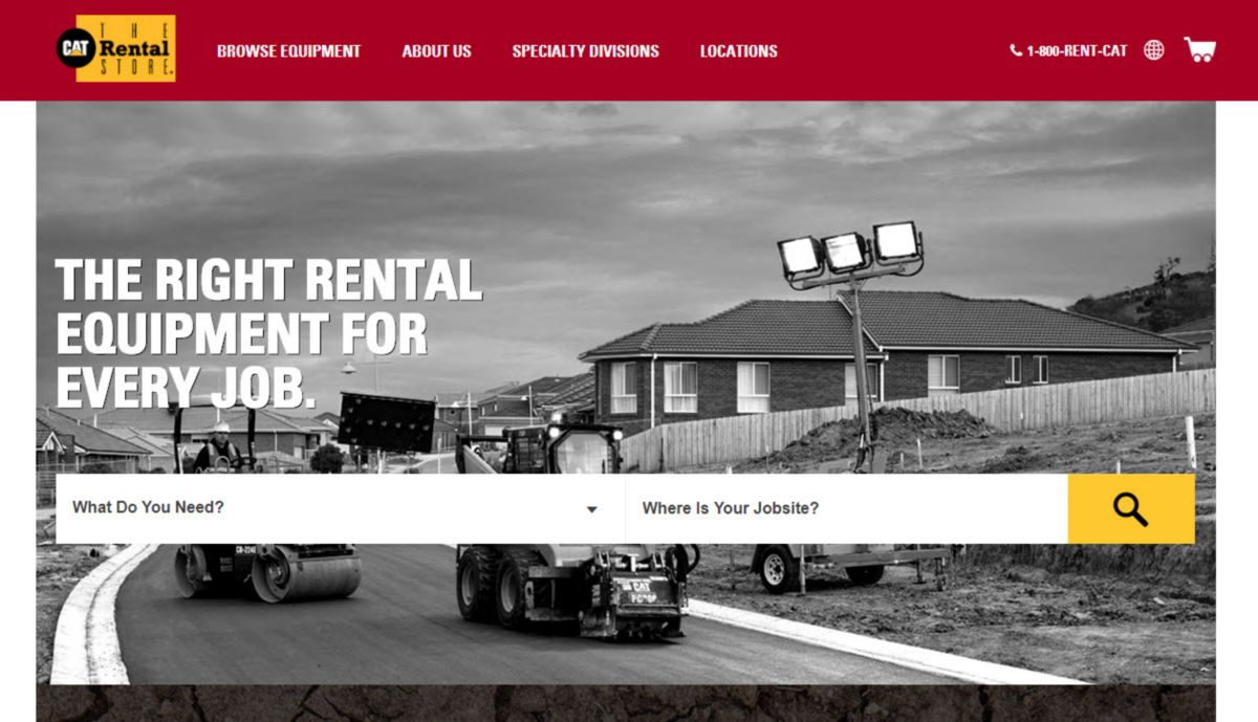 CatRentalStore.com homepage