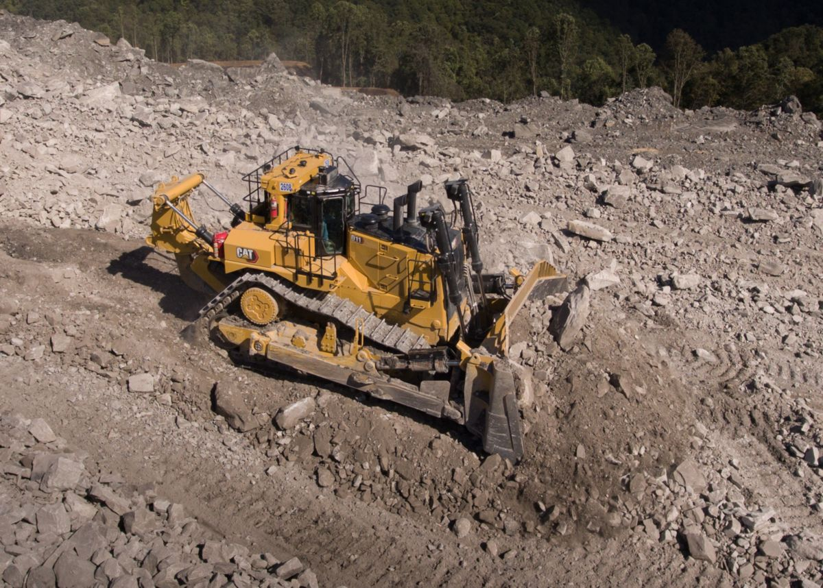 New Cat D11, contouring mined land